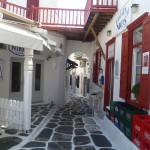 A typical Greek street