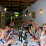 Guests enjoying dinner during a Friendship Travel holiday.