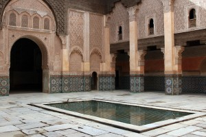 Ornate courtyard in Marrakech