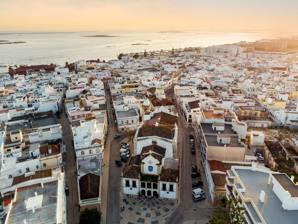 Aerial View Of Olhao in Portugal