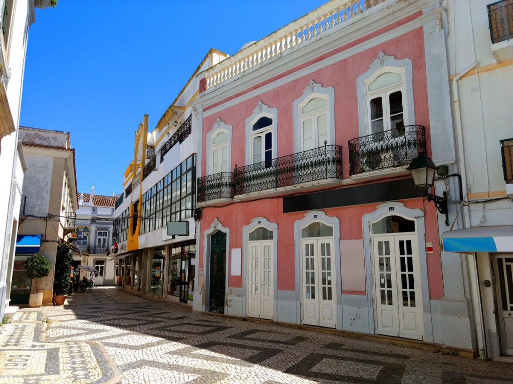 The town of Olhão in Portugal