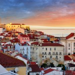 Lisbon in sunset